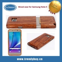 OEM natural bamboo wood case for samsung galaxy note 5