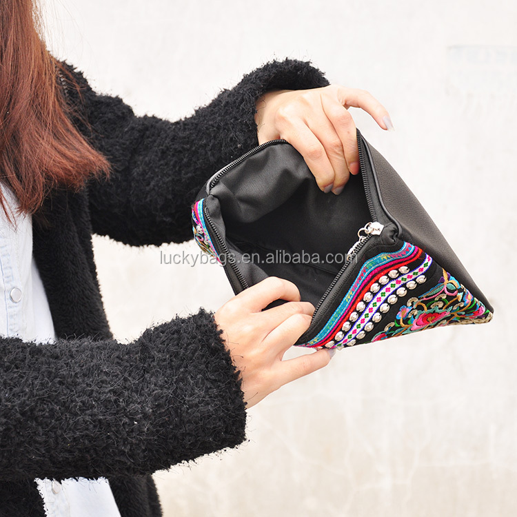 Wholesale women genuine leather bag ladies dinner party handbag