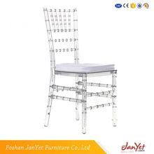 Manufacturer Clear Acrylic Monobloc Wood Tiffany Chair