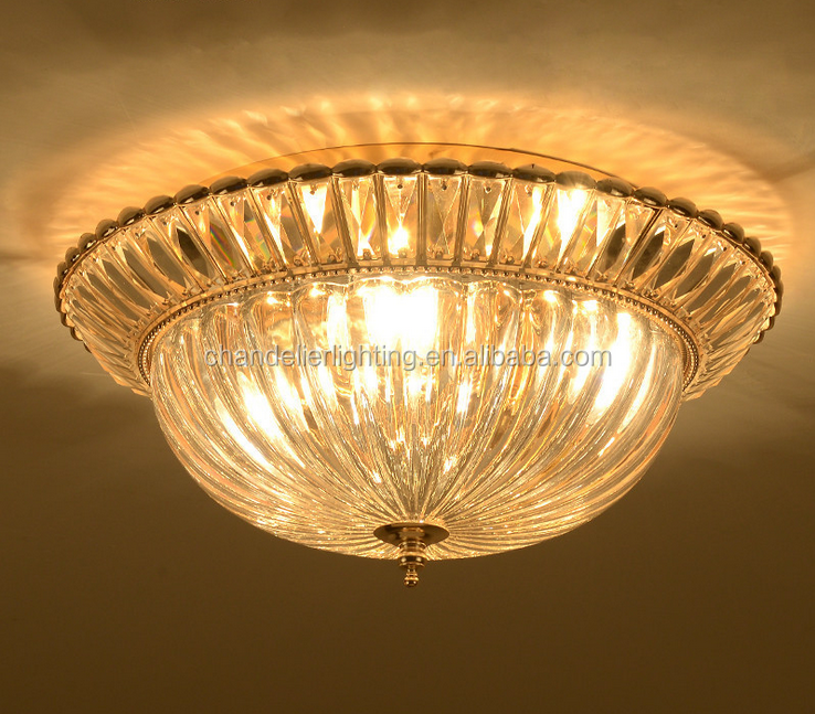2017 European gold crystal ceiling lamp for French restaurant/hall/bedroom