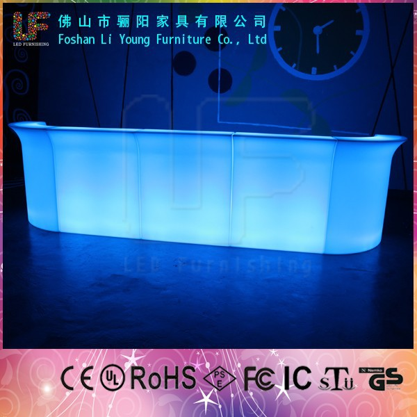 Multi color changing <strong>bar</strong> furniture lighting hard plastic led lighting outdoor plastic light up standing table