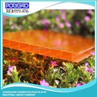 Wholesale China Products PC twin wall roofing panel plastic honeycomb polycarbonate greenhouse