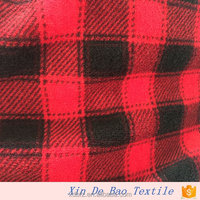 wholesale custom digital printing polyester plaid fabric for blanket