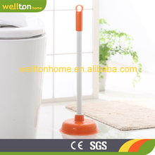 Cheap Plastic toilet plunger toilet sucker with long handle cleaning tool