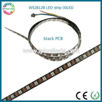 black pcb/white pcb available led strip with ws2811 ic built in ws2812b led ribbon