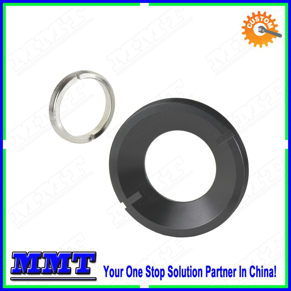 cnc lathe turning optical retainer ring with anodizing or chrome plating surface