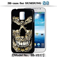 3D Flash Case,For Samsung Galaxy S5 Ghost Case,Skull Case for Galaxy S5-V517