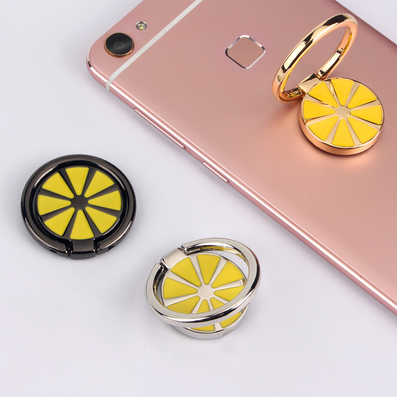 New Product Distributor Wanted Lemon Design Fruit series Ring Phone Holder Wholesale Price High quality ring holder