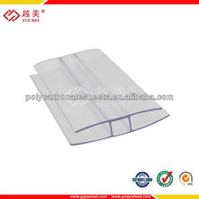 Polycarbonate sections, PC Profile,PC sheet accessory for polycarbonate sheet