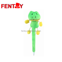 Frog plush fancy fluffy pen customized wholesale price