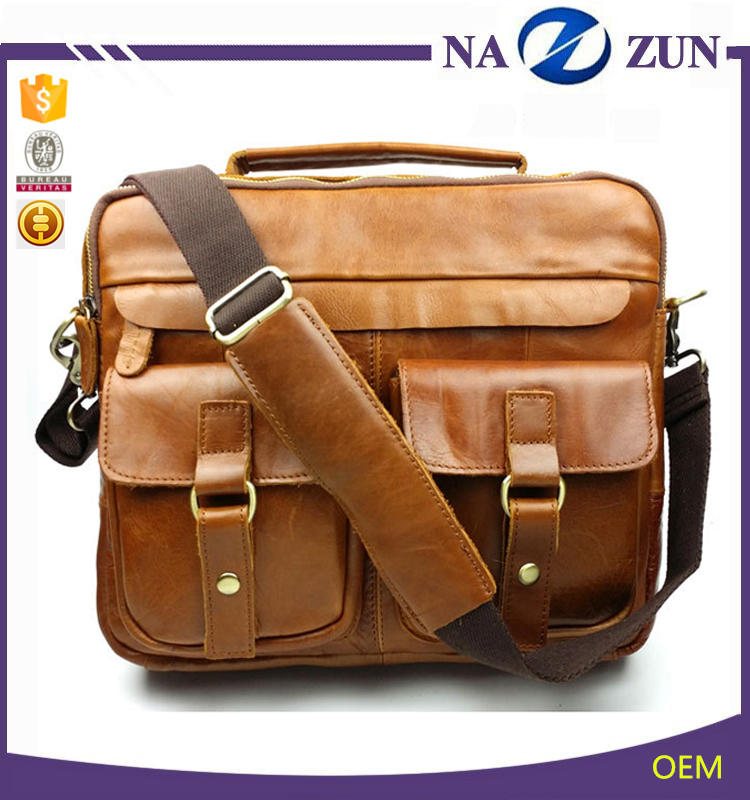 China suppliers wholesale Crazy Horse Men Business Bag Leather Briefcases bag