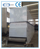 GRT industrial coir belt hot air dryer/coconut fibre continuous drying machine/cocos fibre belt drying equipment