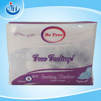 blue chip 280mm softness series branded Free Feeling for day use sanitary napkin