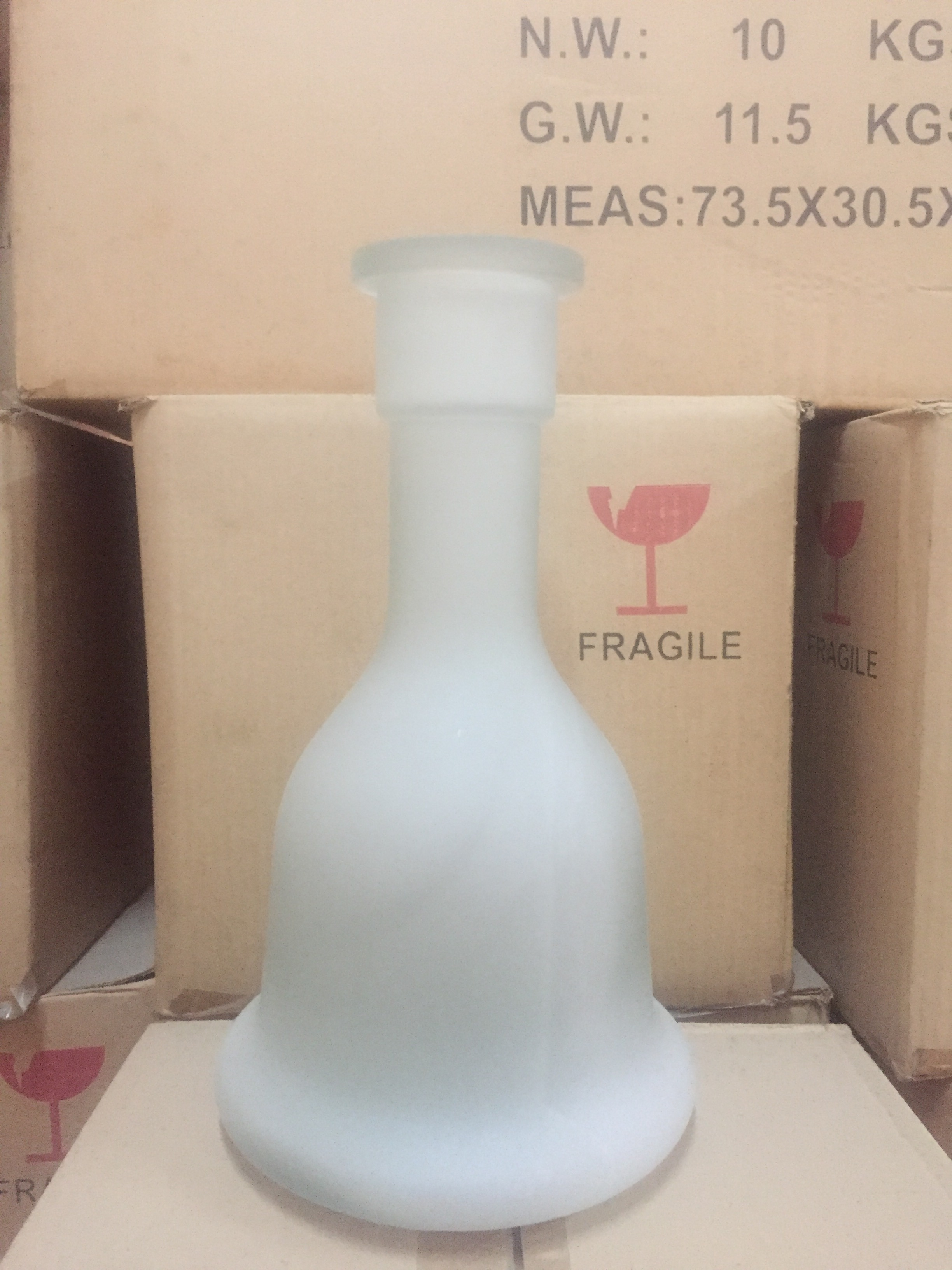 Height 31cm glass for hookah shisha vase base bottle