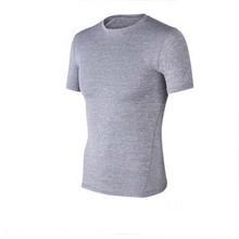 Wholesale gym sports wear fitness breathable tri-blend 95% polyester 5% spandex dry fit t shirt