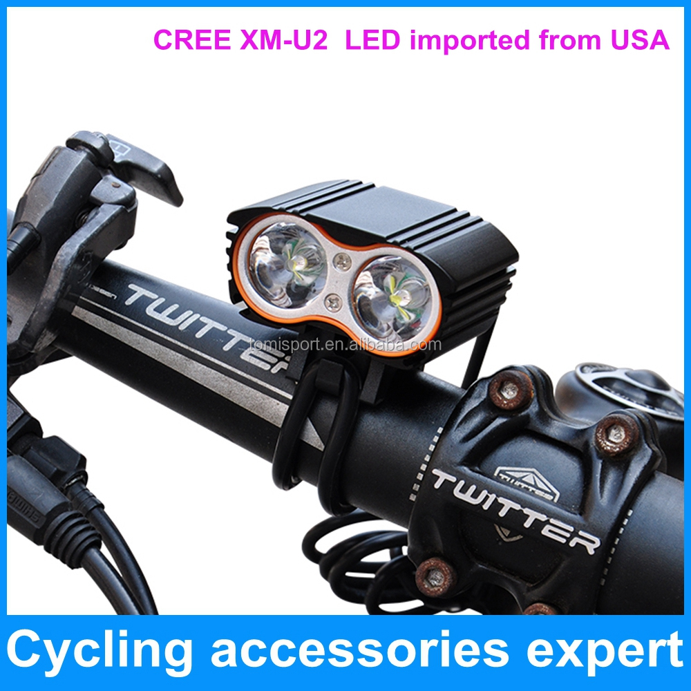 2000 lumen super bright T6 XM-<strong>U2</strong> x2 led bike bicycle headlight