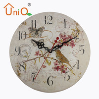 M1212 bird pattern decorative wall clock for living room