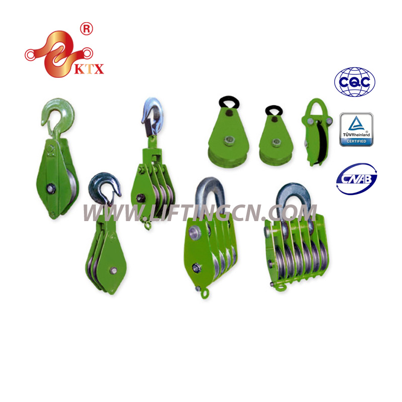 Single or double hook pulley with high quality with shaft sleeve/sleeve pulley/shafts and pulley