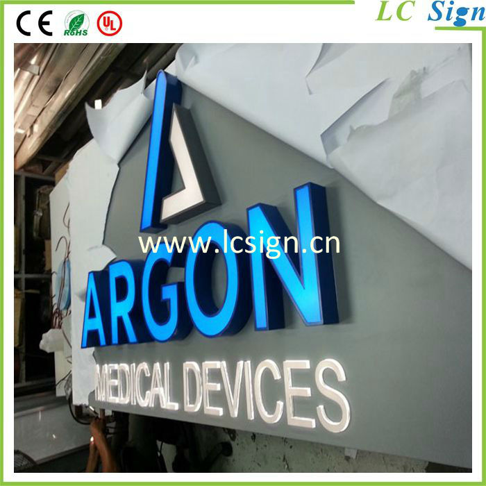 Outdoor Programmable Led Channel Letter Signs Board