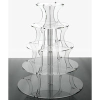 Round 5 tier acrylic cupcake stands 5 Clear wedding cake display stands transparent cake holder