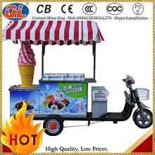 popular lowest price ice cream tricycle | food cart ice cream push cart
