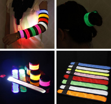 Promotion Fabric made optical fiber led light guide flashing LED wristband