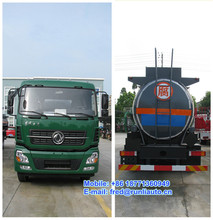 Dongfeng Tianlong 8X4 16 to 18 m3 glacial acetic acid tank truck for sale