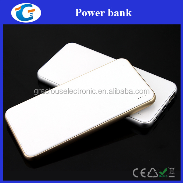 High safety 5000 mah metal slim power bank for cell phone