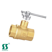 double fork gas valve red handle brass internal threaded ball price