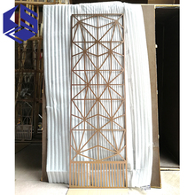 Customized design stainless steel restaurant metal screen room divider