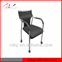 China Supplier For Home Furniture Low Back Black Leather Office Chair with Arm