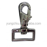 Zinc Alloy Swivel square loop clip bolt Snap Hook for dog leash