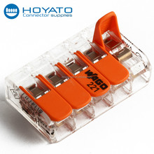 Low Voltage Wire Connector Terminal Promotion Wedge Connector Cage Clamp Terminal Block 2 pin connector