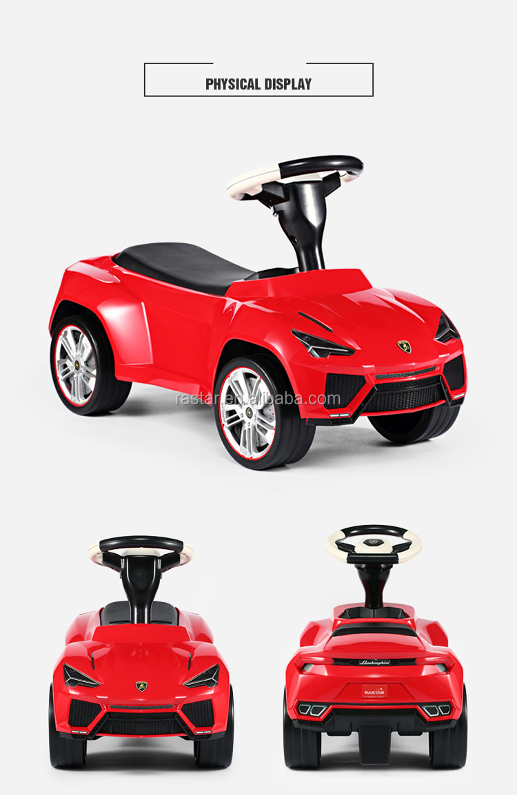 Rastar Authorized baby walking car hot selling ride on toy plastic car