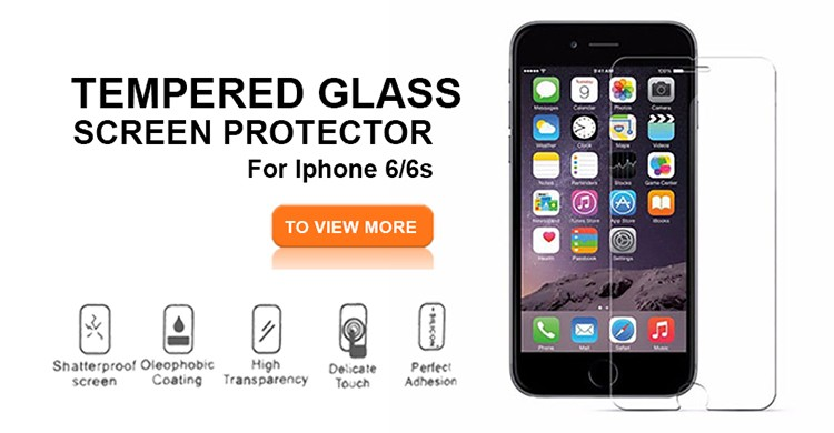 Tempered glass screen protector 4d for iphone 6