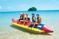 World Leading Inflatables AquaOrb Inflatable Banana, Water Banana, Floating Aquatic Banana Ride - Free Customization.