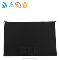 Custom fancy black polyester cotton travel dust bag with drawstring