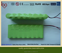 rechargeable batteries Ni-MH A 2400mAh 9.6V battery pack industrial batteries