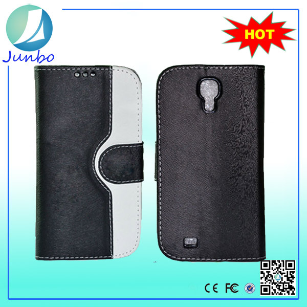 Stylish leather cover case with card holder for samsung galaxy s4 mini