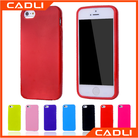 New Arrival Mobile accessories for iPhone 5 SE silicone case Candy Color TPU back cover