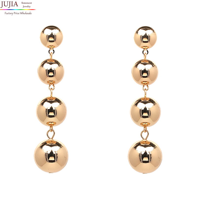 Gold Plastic New Model Cubic Zirconia Statement Design Cheap Wholesale Fashion Stud Earring