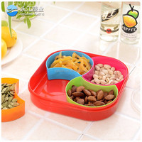 wholesale stainless steel food plastic tray disposable melamine snack tray