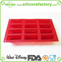 High Quality 12-Cavity Mini Financier Silicone Mold and Baking Pan