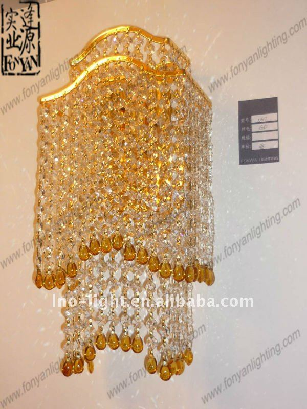 New decorative crystal antique candle sconce