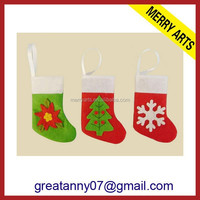 wholesale 2015 new product knit felt christmas stocking hanger for christmas decorative