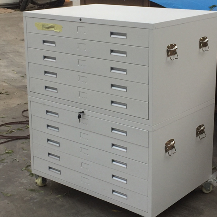 A1 Paper Drawing Cabinet Plan Map Storage Cabinet Steel <strong>Mobile</strong> Drawing File Cabinet