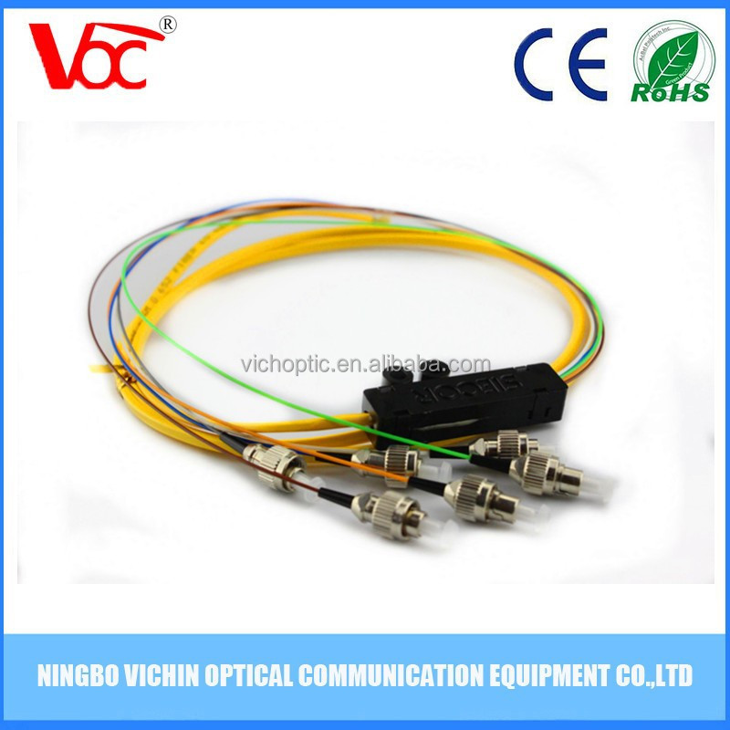 6 Core Single-mode FC UPC Fiber Optic 1.5 Meter Pigtail
