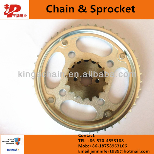 CG 150 chain & sprocket TITAN 43/16T for motorcycle