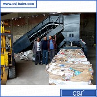 CSJ baler automatic waste paper boxes compactor for sale
