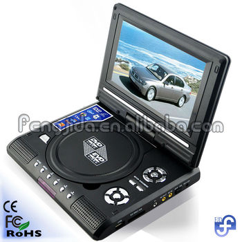 7'' dvd player with USB,support RMVB/FM